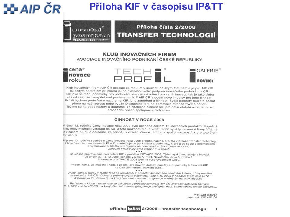 Příloha KIF v časopisu IP&TT