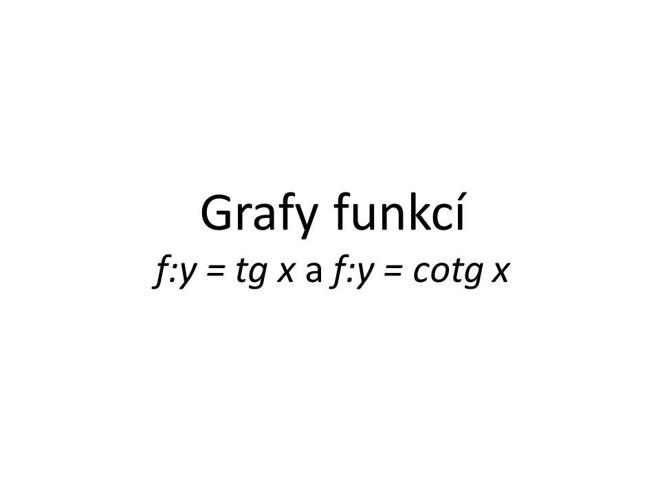 Zaneseme-li hodnoty funkce f:y = tg x do grafu (viz.