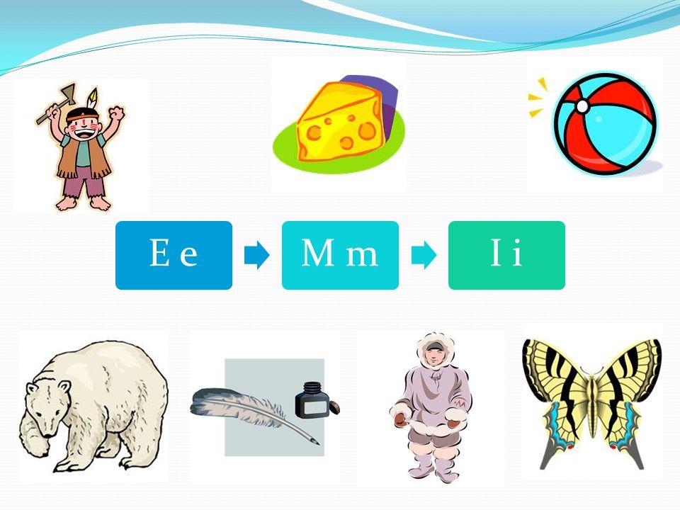Přečtěte všechna písmena a k tiskacím tvarům připište tvary psací: A a M m O o U u I i E e