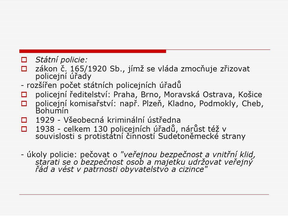  Státní policie:  zákon č.