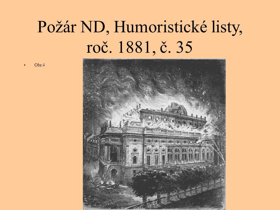 Požár ND, Humoristické listy, roč. 1881, č. 35 Obr.4