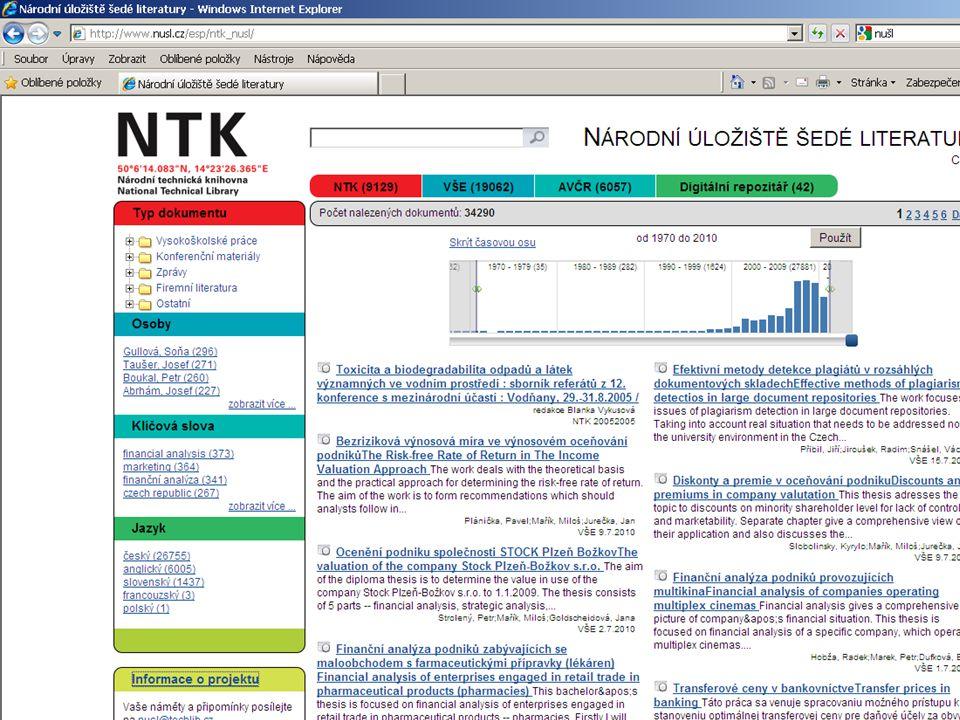 JSTOR www.jstor.org archiv digitalizovaných plných textů; každý časopis je digitalizován od 1.