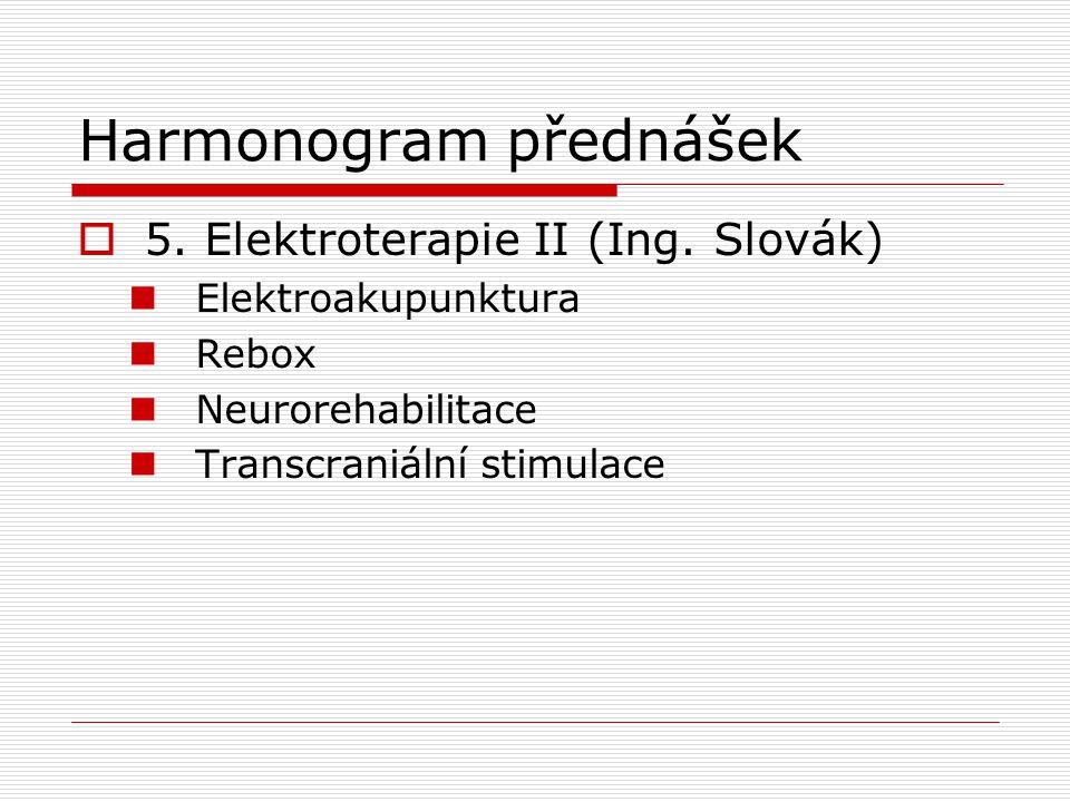 Harmonogram přednášek  6.Léčebný ultrazvuk (Ing.