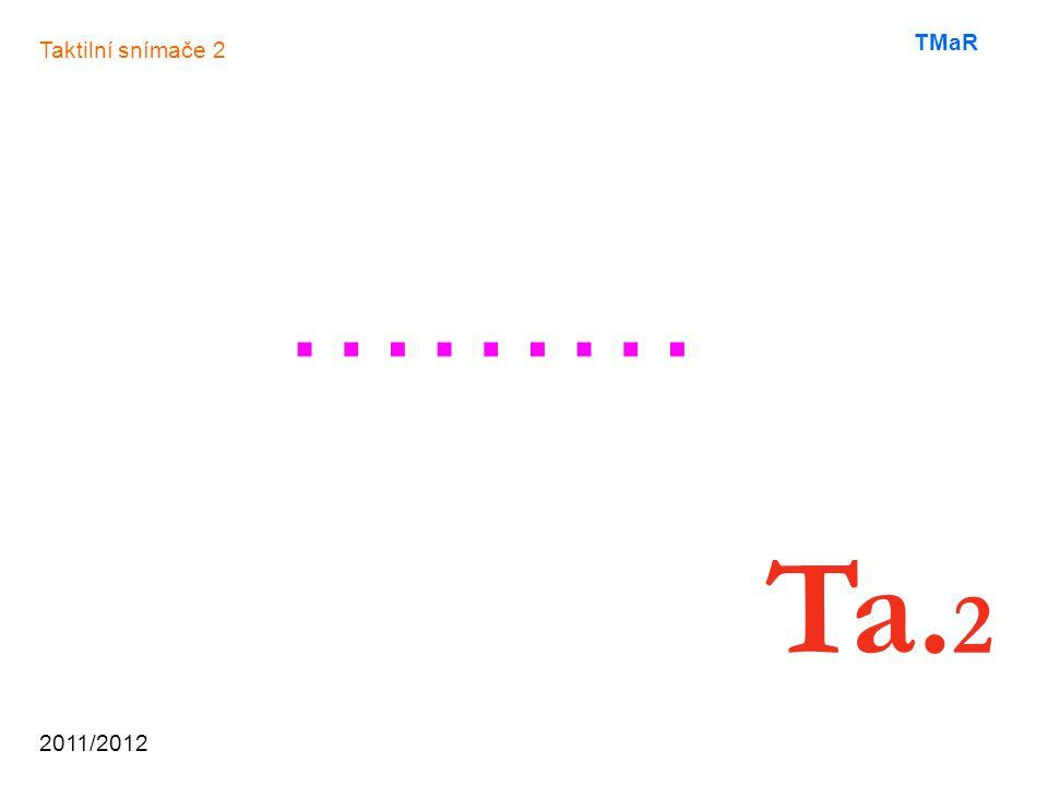2011/2012 TMaR ……… Taktilní snímače 2 Ta. 2