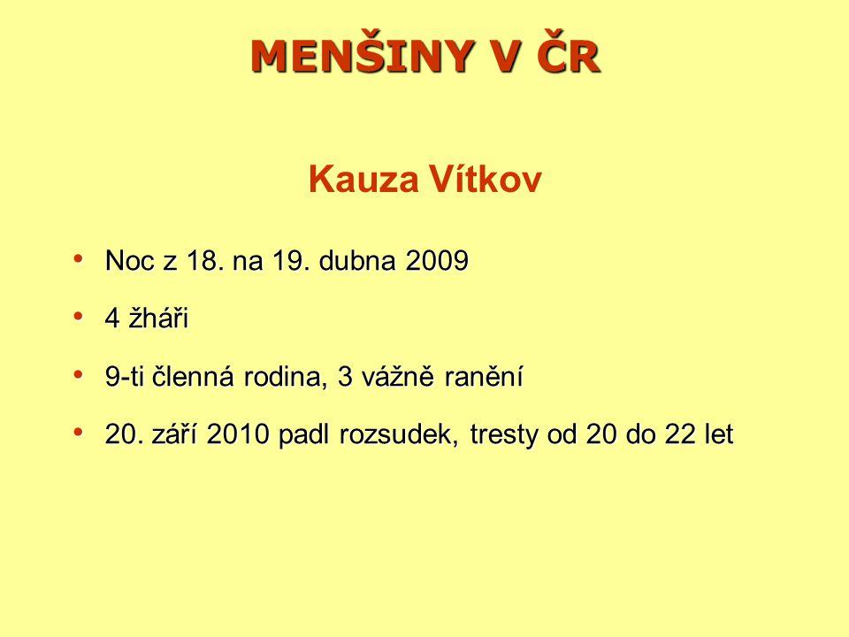 MENŠINY V ČR Noc z 18.na 19. dubna 2009 Noc z 18.