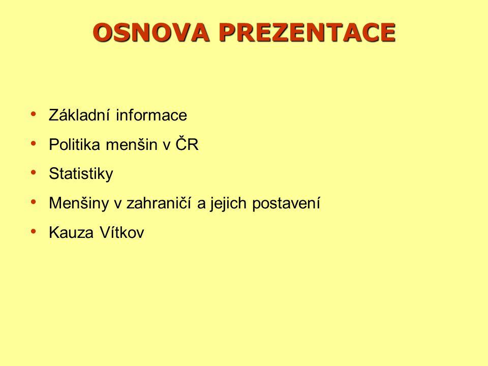 MENŠINY V ZAHRANIČÍ SLOVENSKO Vývoj na Slovensku Rok 1993 Rok 1993 −Požadavek maďarské menšiny na vybudování škol Rok 1996 Rok 1996 −Reforma veřejné správy, členění na VÚC (župy) Rok 1998 Rok 1998 −Maďaři ve vládní koalici, vzniká zákon o používaní menšinových jazyků −Jsou povoleny dvojjazyčné názvy obcí, začíná se s budování maďarských škol