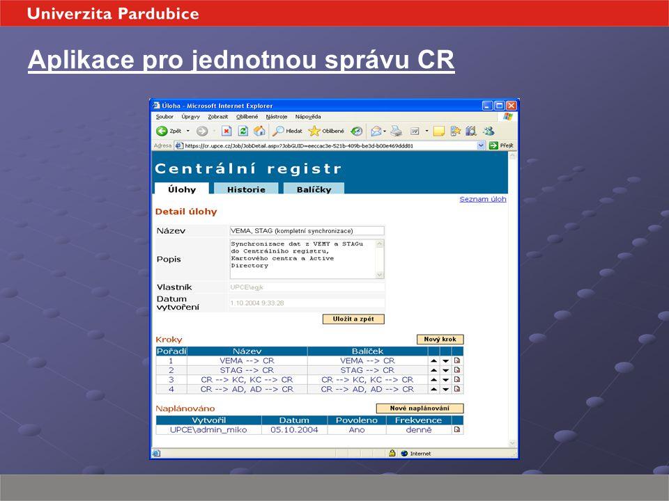 Aplikace pro jednotnou správu CR