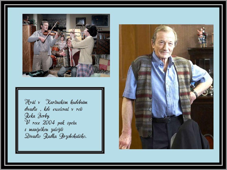 Od roku 1967 byl členem Divadla na Vinohradech, kde strávil více jak 30 let.