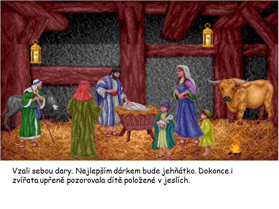 Tři mudrci z Východu slyšeli o zvláštním dítěti, které se narodilo.