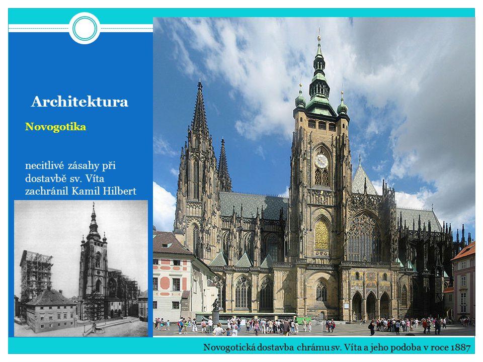 Architektura Novogotika necitlivé zásahy při dostavbě sv.