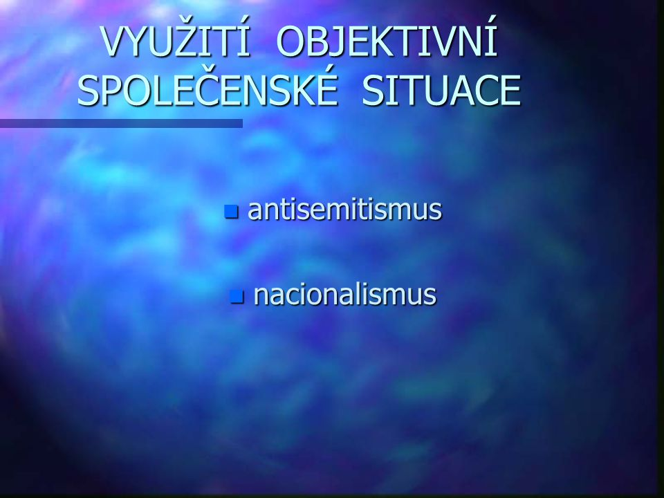ANTISEMITISMUS n nepřátelský vztah k Židům n forma náboženské a rasové nesnášenlivosti