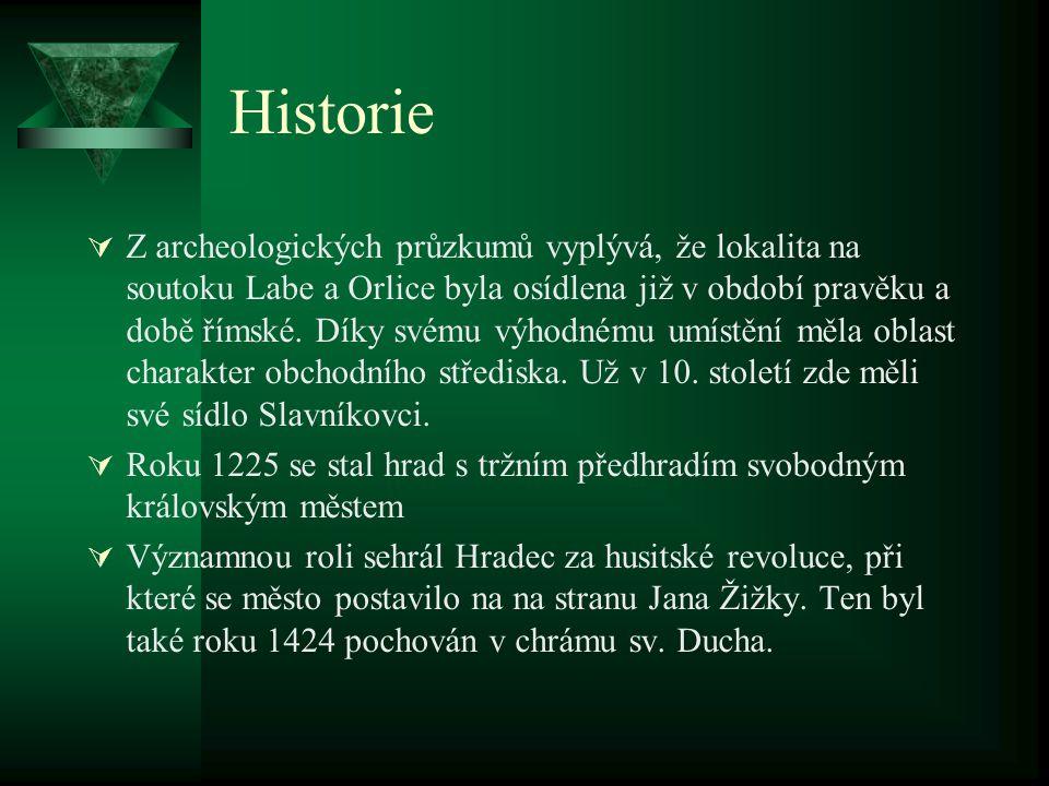 Historie  Z archeologických průzkumů vyplývá, že lokalita na soutoku Labe a Orlice byla osídlena již v období pravěku a době římské.
