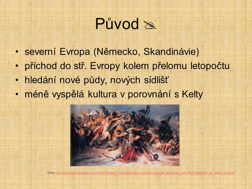 Opakování Doplň do textu vynechaná slova a)Dobu, kdy na našem území žili Germáni, označujeme jako doba______________.