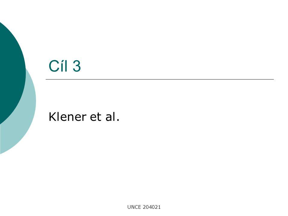 UNCE 204021 Cíl 3 Klener et al.