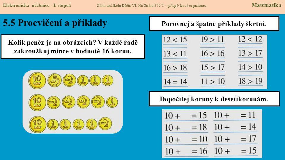 5.5 Procvičení a příklady Elektronická učebnice - I.