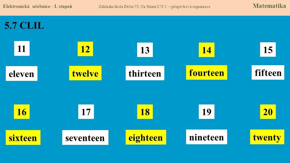 5.7 CLIL Elektronická učebnice - I.