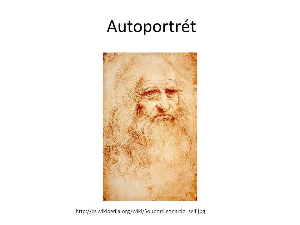 Autoportrét http://cs.wikipedia.org/wiki/Soubor:Leonardo_self.jpg