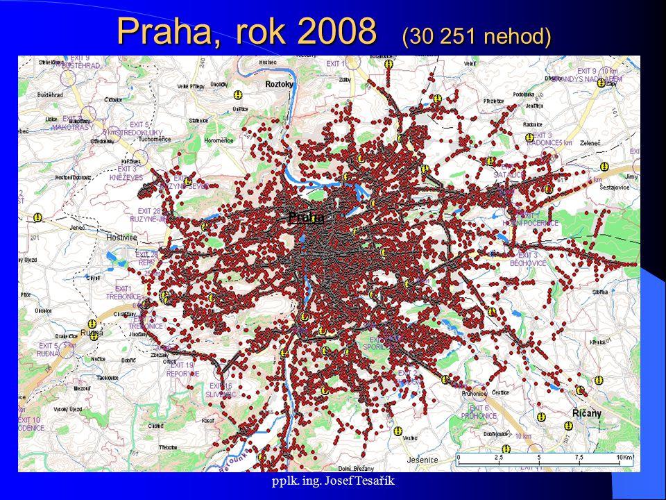 Rada vlády pro BSP; 23. dubna 2009, pplk. ing. Josef Tesařík Praha, rok 2008 (30 251 nehod)