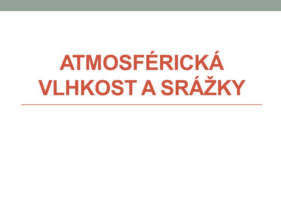 Oblaka Fyzická geografie - Atmosférická vlhkost a srážky - Mgr. Lukáš Dolák