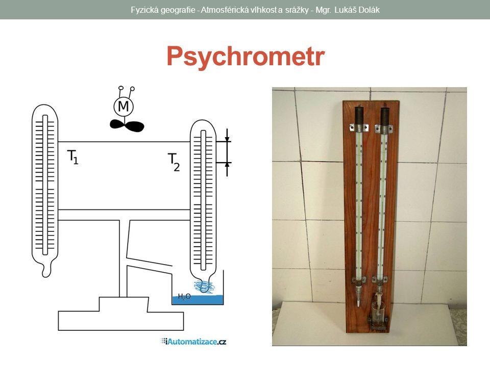 Psychrometr Fyzická geografie - Atmosférická vlhkost a srážky - Mgr. Lukáš Dolák