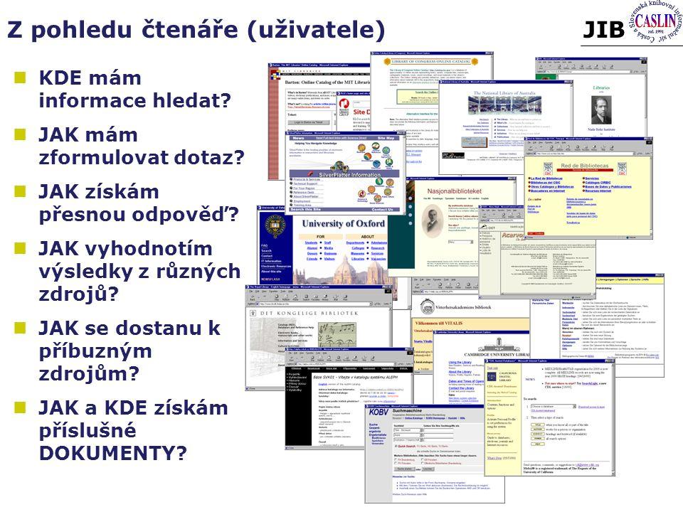 JIBZ pohledu čtenáře (uživatele) KDE mám informace hledat.