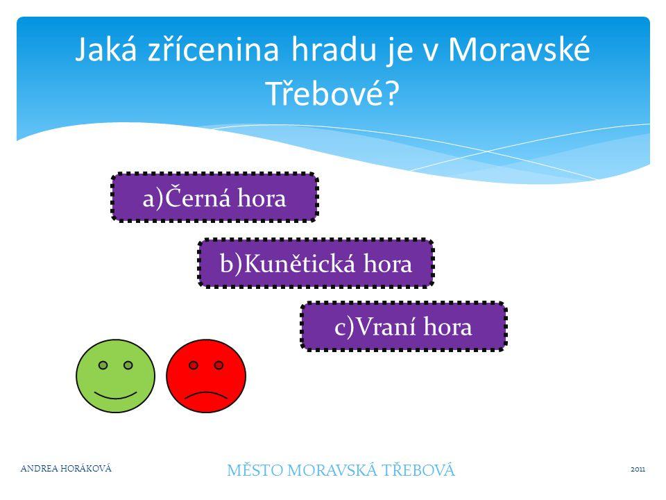 Rozhledna v okolí 2011ANDREA HORÁKOVÁ MĚSTO MORAVSKÁ TŘEBOVÁ