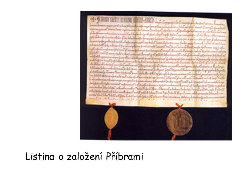Listina o založení Příbrami