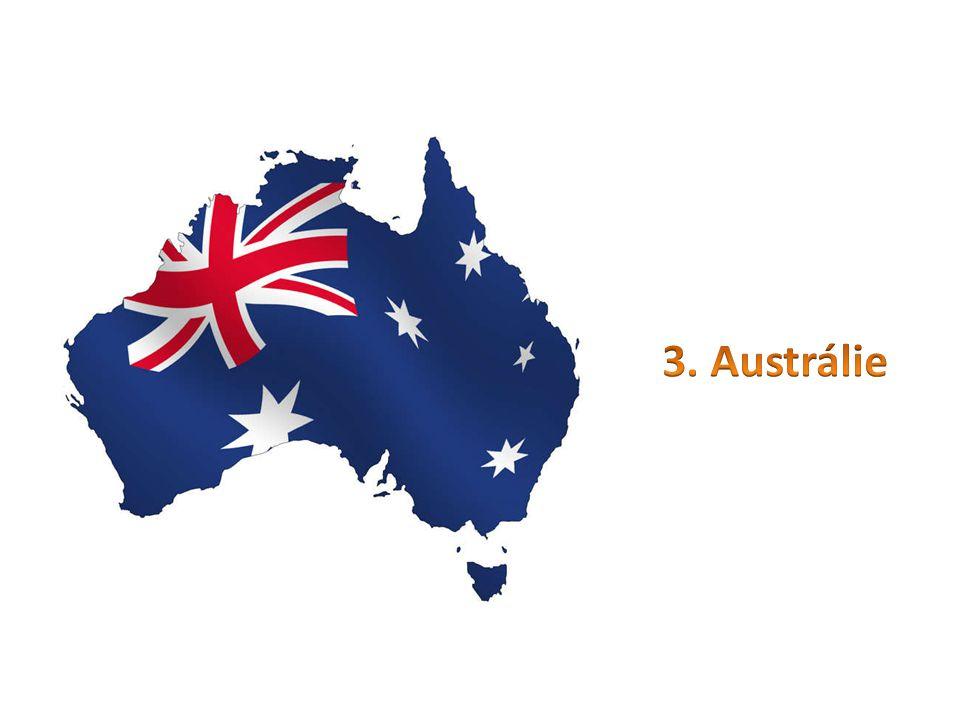 zaujímá celou australskou pevninu včetně ostrova TasmániePovrch poměrně jednotvárný Australské Kordillery - Australské Alpy (Mt.