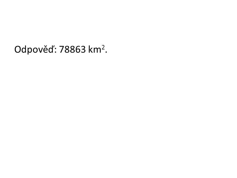 Odpověď: 78863 km 2.