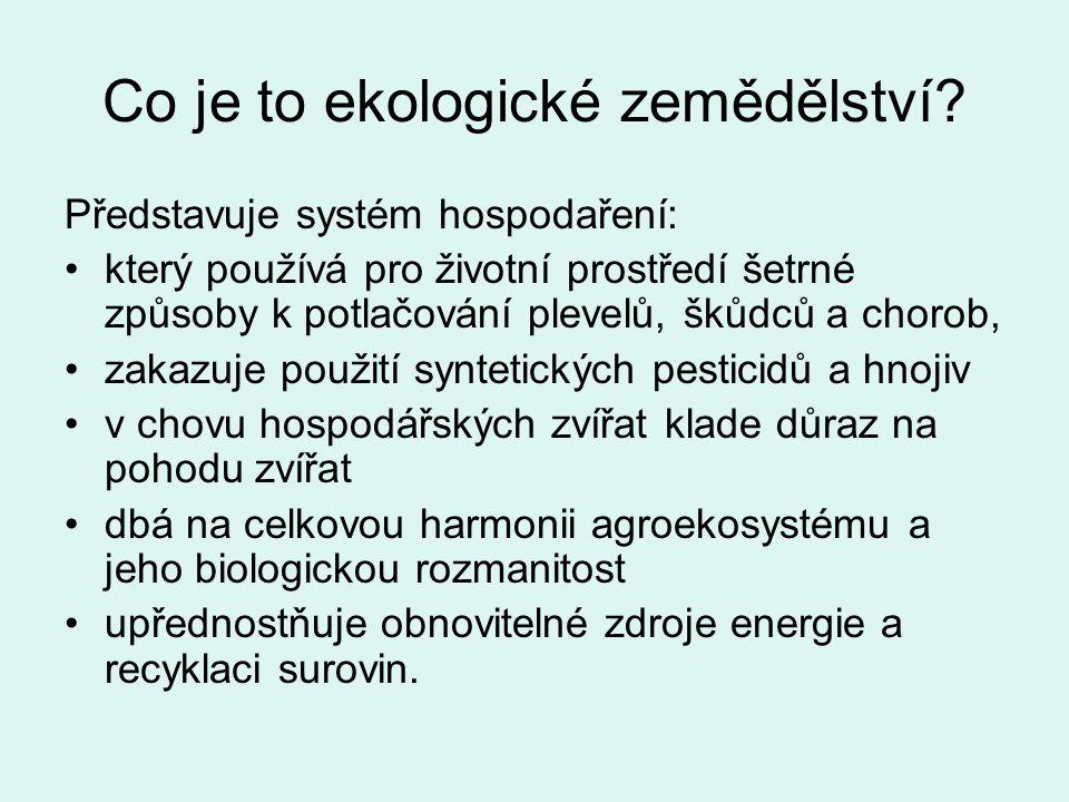 ROZVOJ EKOLOGICKÉHO ZEMĚDĚLSTVÍ Rozvoj od r.