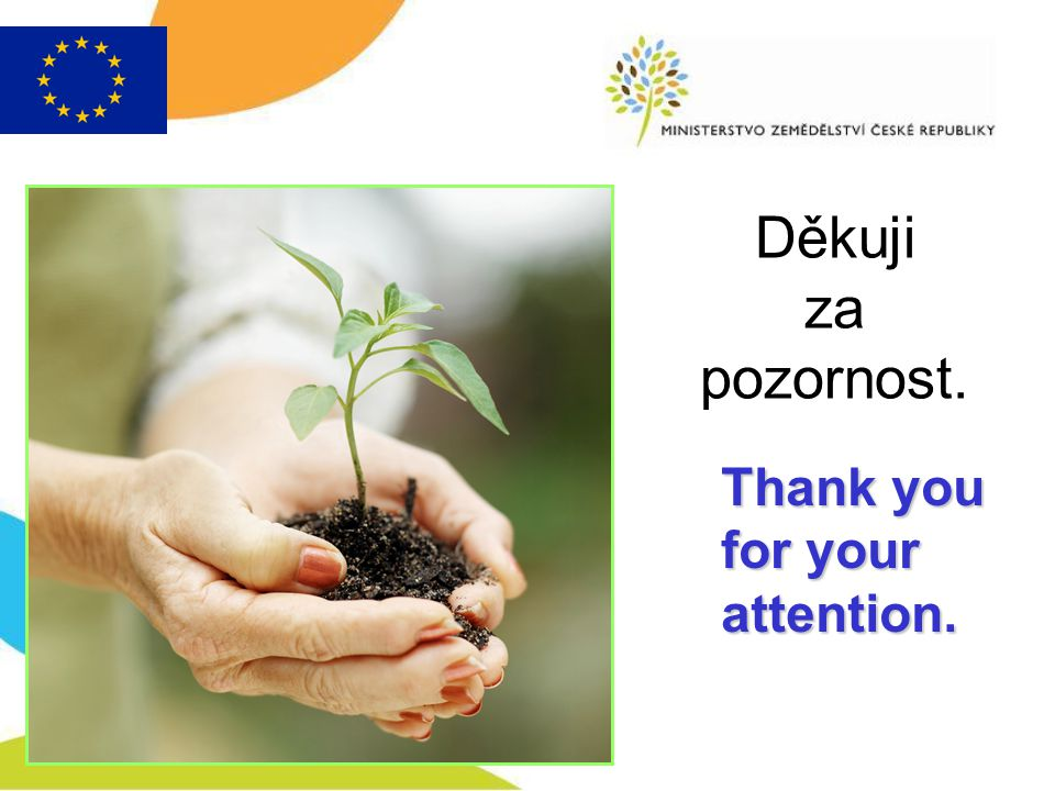 Thank you for your attention. Děkuji za pozornost.