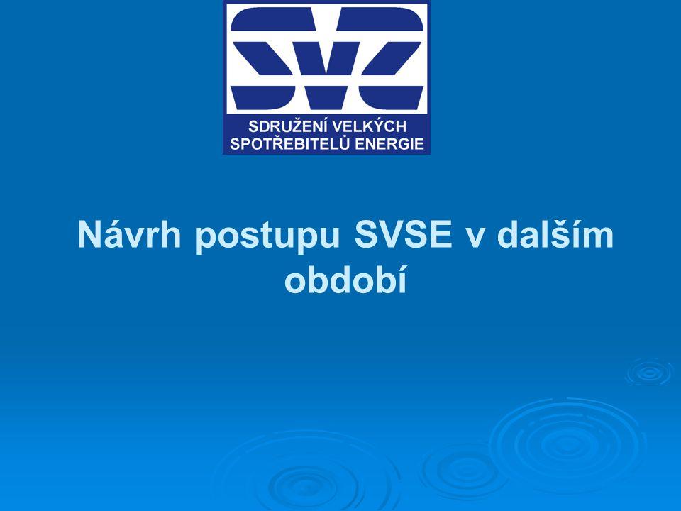 Návrh postupu SVSE v dalším období