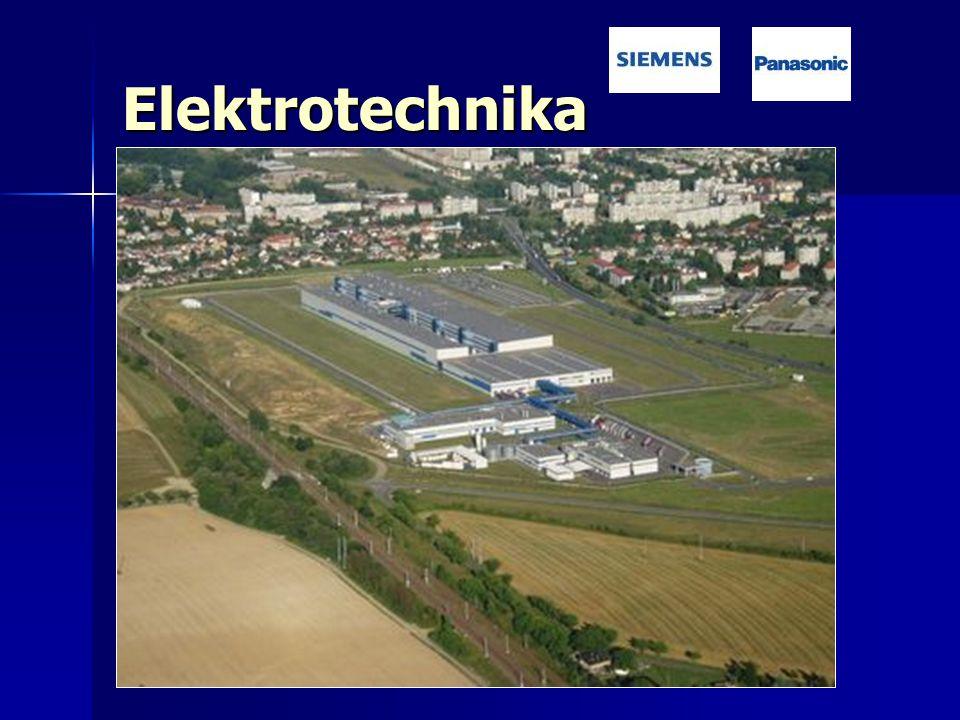 Elektrotechnika Odvětví závislé na zahraničních investicích Odvětví závislé na zahraničních investicích SIEMENS Frenštát p. Radhoštěm SIEMENS Frenštát