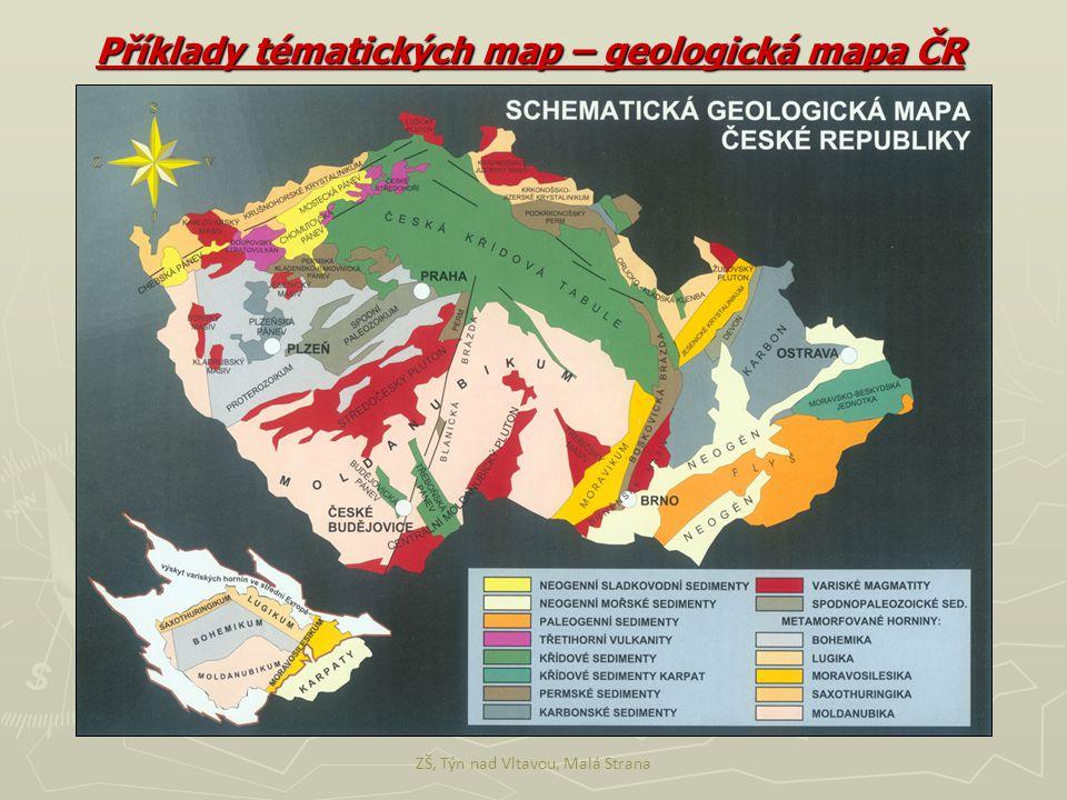 ZŠ, Týn nad Vltavou, Malá Strana Příklady tématických map – geologická mapa ČR