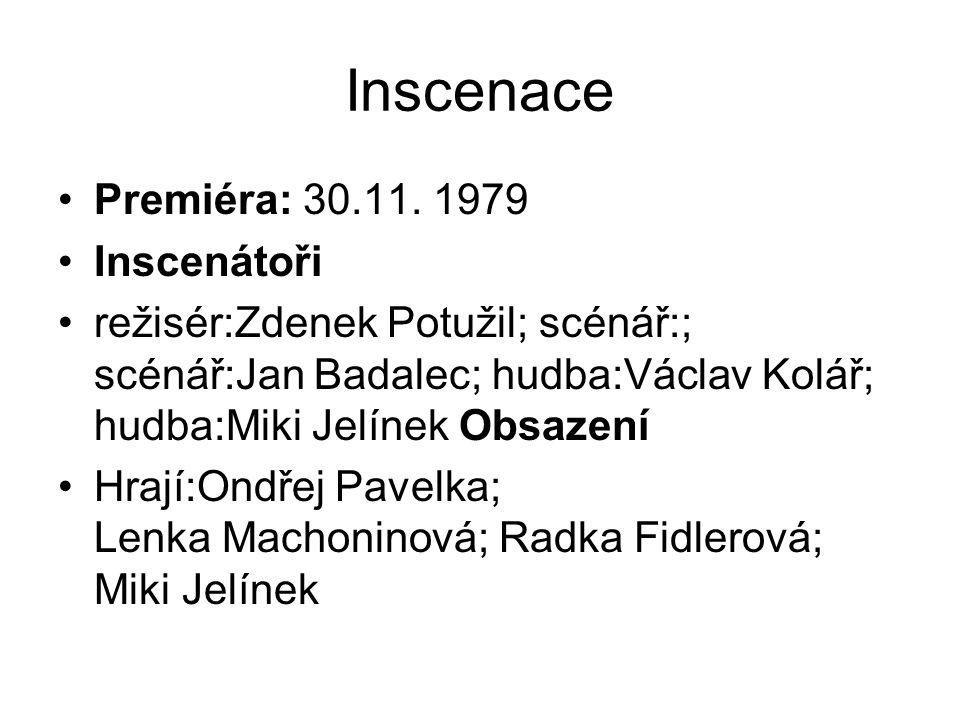 Inscenace Premiéra: 30.11.