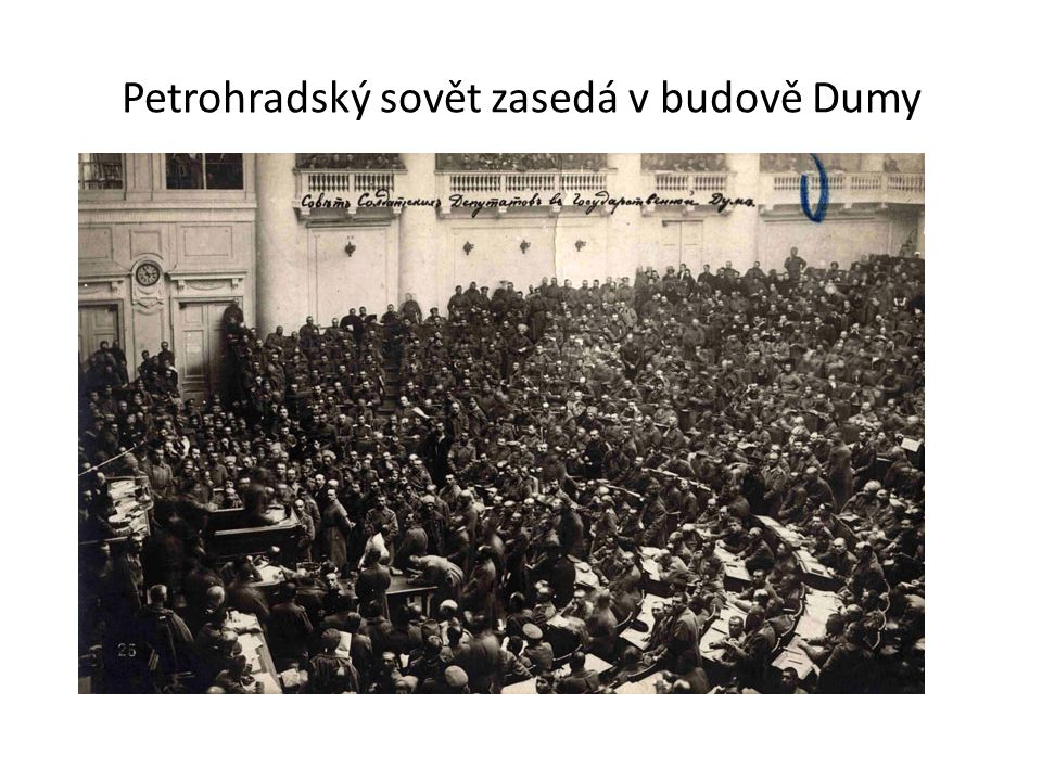 Petrohradský sovět zasedá v budově Dumy