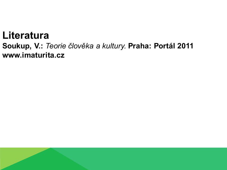 Literatura Soukup, V.: Teorie člověka a kultury. Praha: Portál 2011 www.imaturita.cz