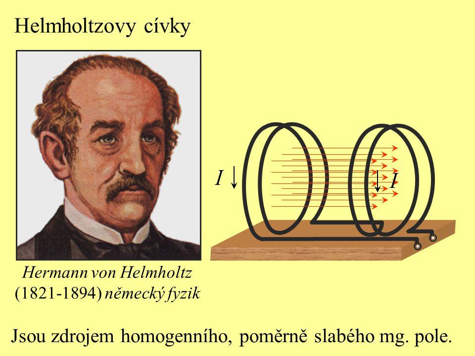 Helmholtzovy cívky Jsou zdrojem homogenního, poměrně slabého mg.