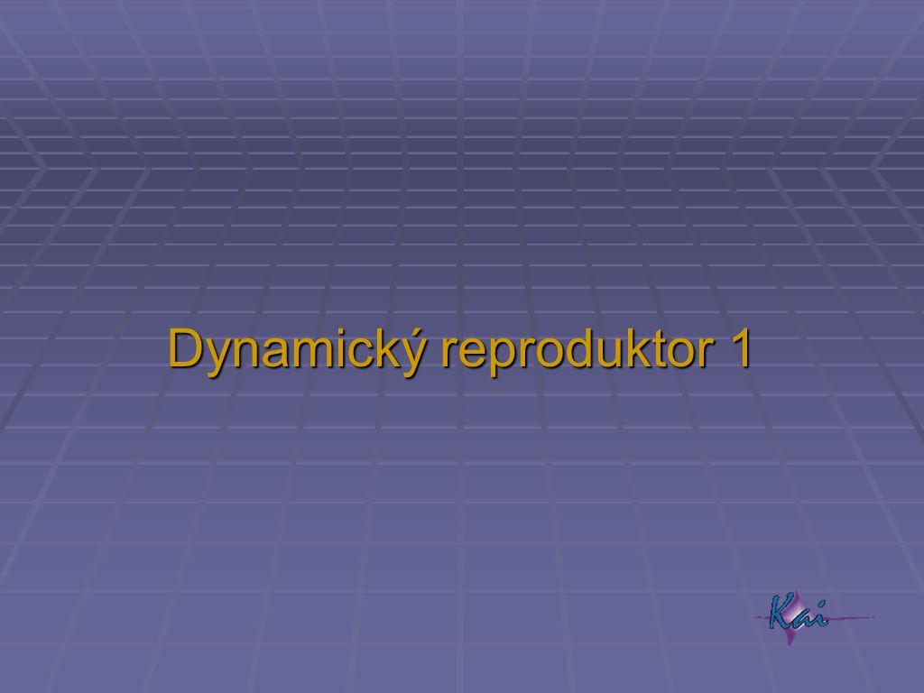 Dynamický reproduktor 1