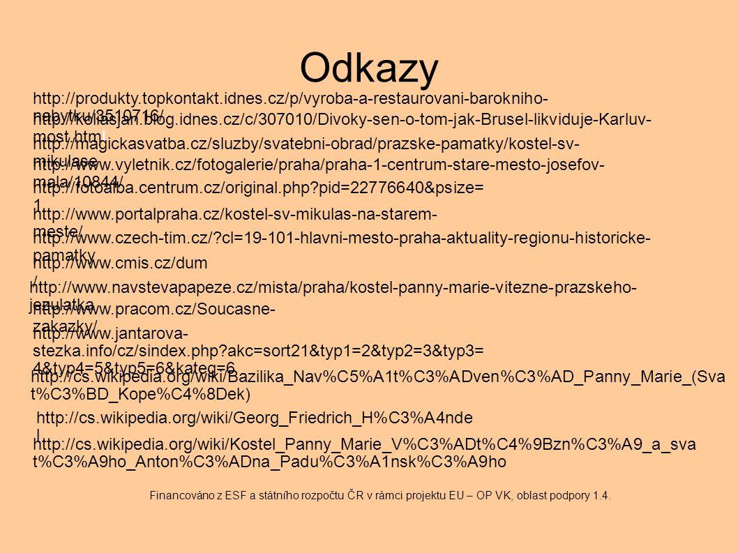 Odkazy http://www.cmis.cz/dum / Financováno z ESF a státního rozpočtu ČR v rámci projektu EU – OP VK, oblast podpory 1.4. http://koliasjan.blog.idnes.