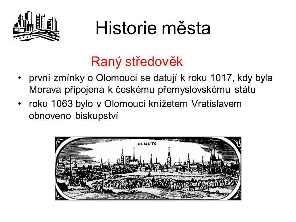 Pamětihodnosti pochází z roku 1723 a byl postaven jako památka na poslední mor, který v Olomouci zuřil roku 1715 morový sloup postavený Václavem Renderem Morový sloup