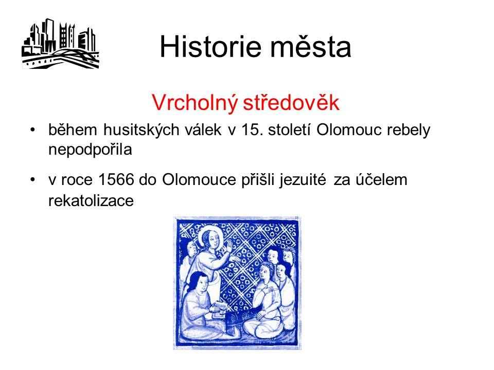 Historie města Vrcholný středověk během husitských válek v 15.