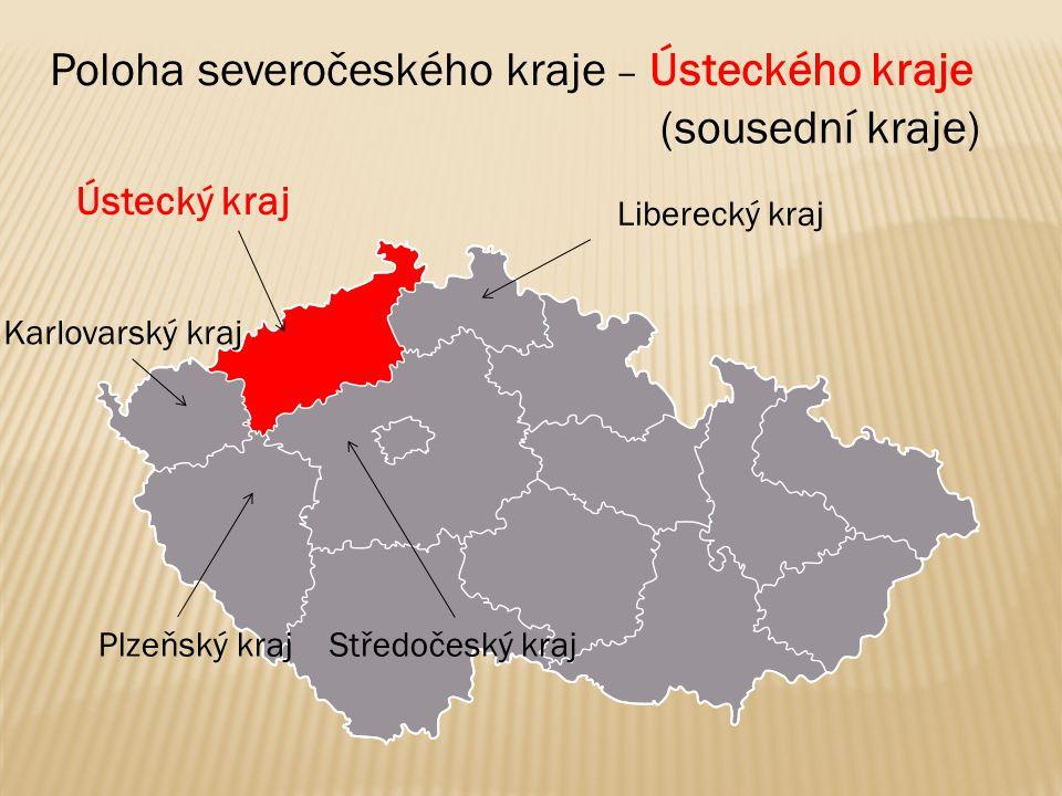 ● Ústí nad Labem Krajské město – Ústí nad Labem Město je důležité říčním přístavem a železniční křižovatkou.