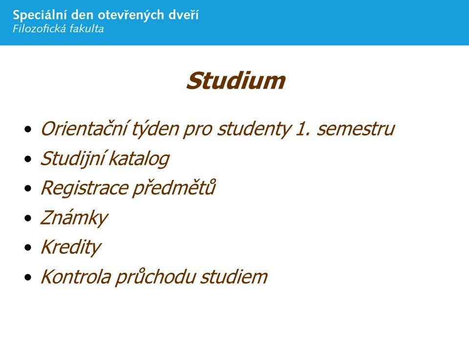 Studium Orientační týden pro studenty 1.