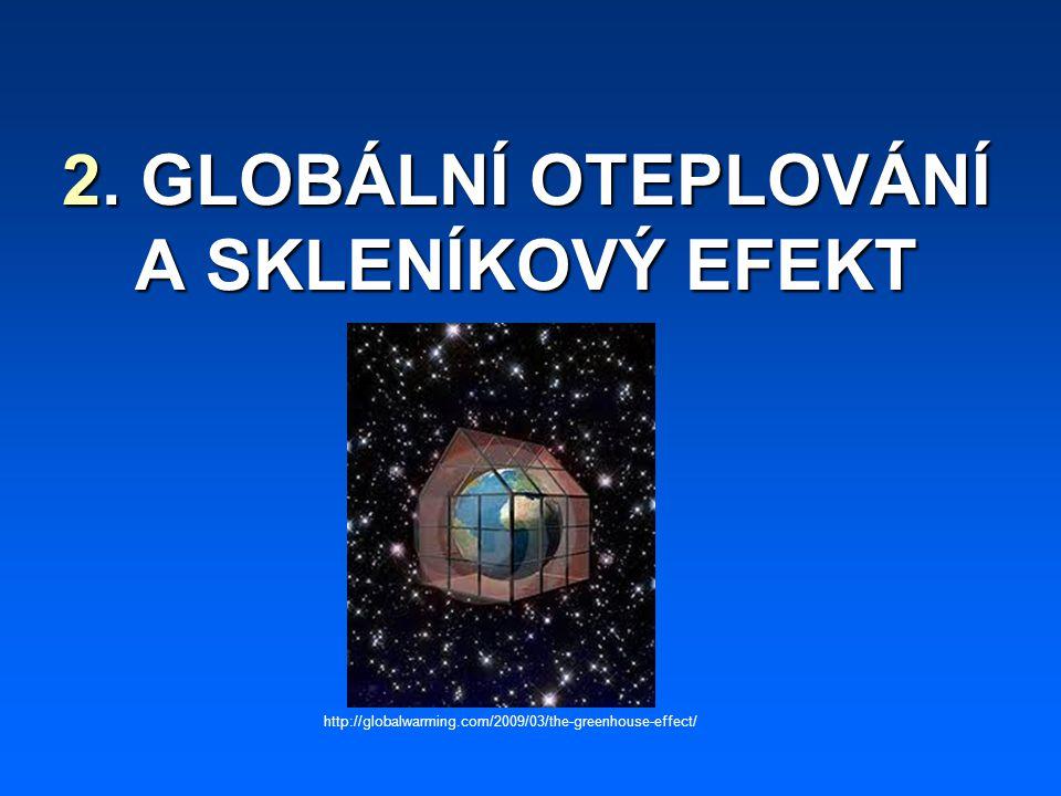 2. GLOBÁLNÍ OTEPLOVÁNÍ A SKLENÍKOVÝ EFEKT http://globalwarming.com/2009/03/the-greenhouse-effect/