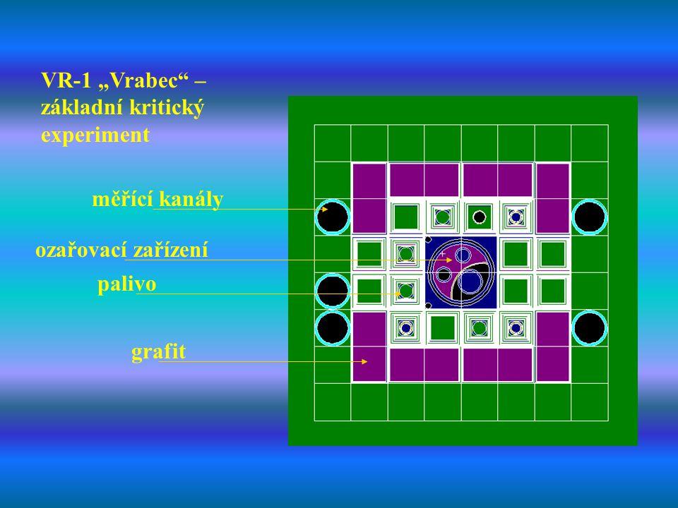 """VR-1 """"Vrabec"""" – základní kritický experiment ozařovací zařízení grafit palivo měřící kanály"""
