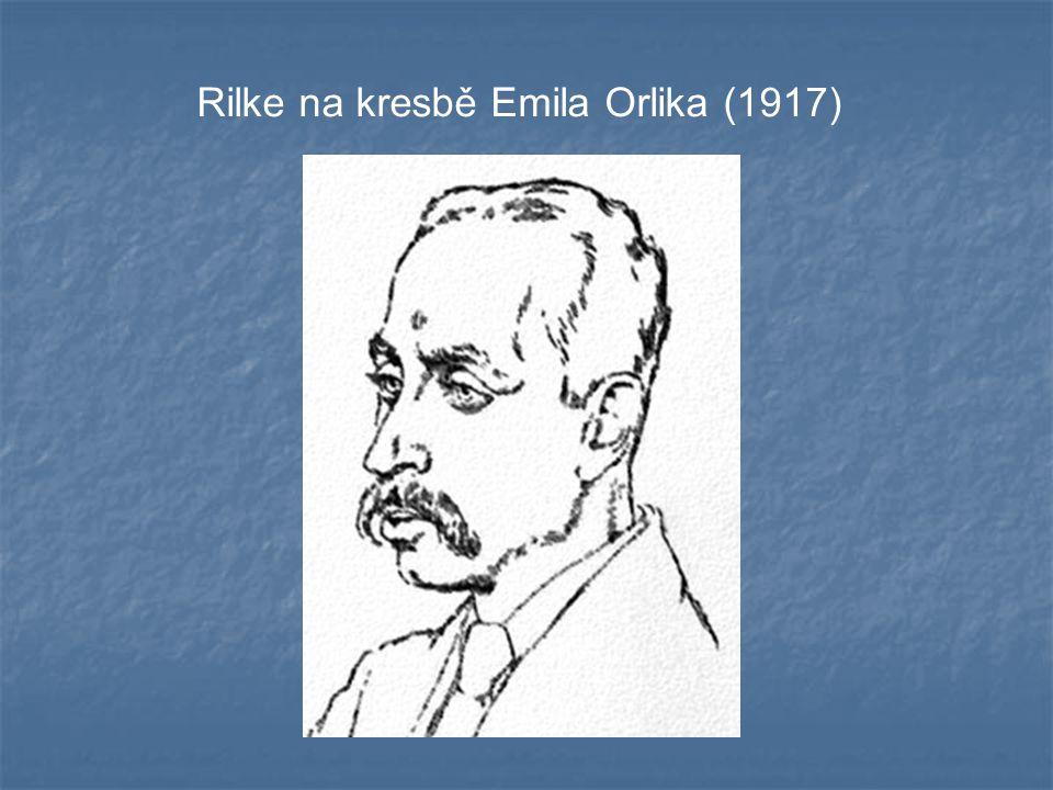 Rilke na kresbě Emila Orlika (1917)