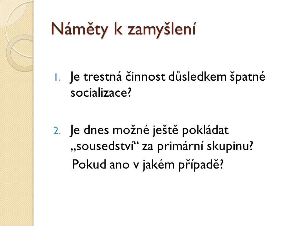 Náměty k zamyšlení 3.