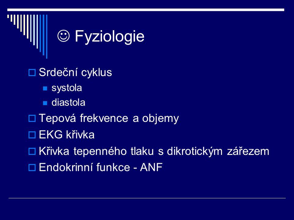 Vyšetření  fyzikální vyšetření (pohed, poklep, pohmat, poslech)  EKG, Holter  echokardiografie, jícnová echok.