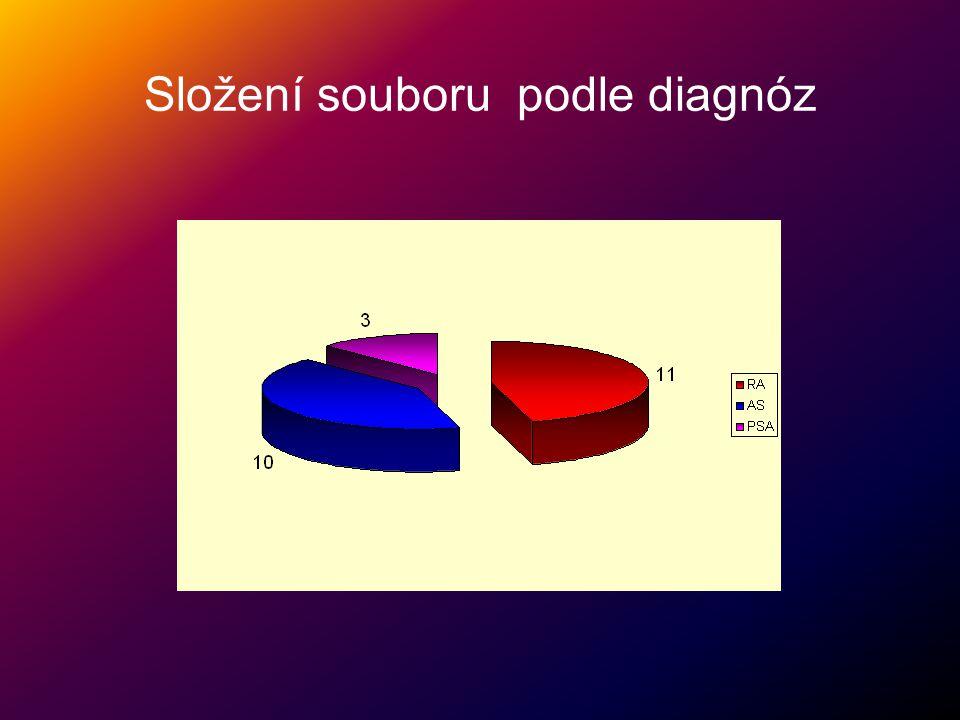 Složení souboru podle diagnóz